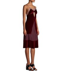 sigmonds silk & velvet slip dress