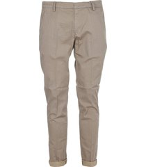 dondup micro pattern sand trousers