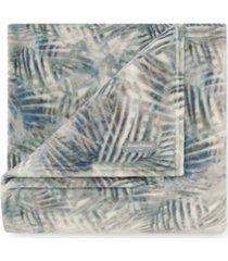 tommy bahama rough palms blue sea ultra soft plush throw