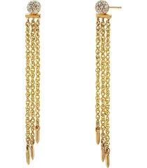 adriana orsini 14k women's eclipse 14k gold & diamond linear chain earrings