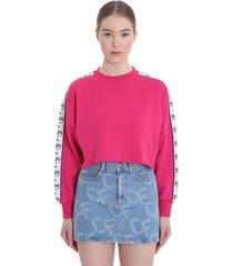 chiara ferragni sweatshirt in fuxia cotton
