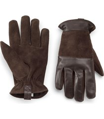 rugged leather and suede glove