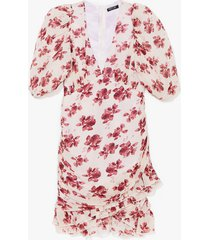 womens bloom for one more floral mini dress - nude