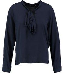 broadway blauwe viscose blouse