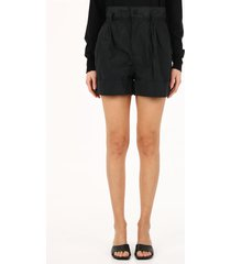 moncler high-waisted shorts black