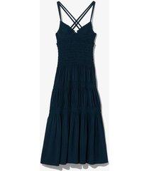 smocked bustier dress