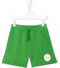 mini rodini tennis ball print shorts - green