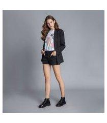 lez a lez - shorts jeans miami resinado preto reativo