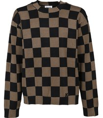 kenzo checks sweater