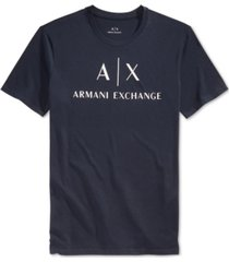 ax armani exchange men's graphic-print logo t-shirt