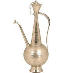 chaleira de metal indiana para decoração
