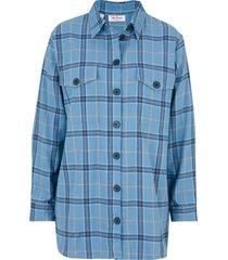 camicia in flanella calda (blu) - john baner jeanswear