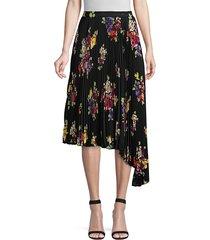kate spade new york women's rare roses pleated skirt - black - size 2