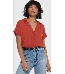 blusa jacqueline de yong mc rojo - calce holgado