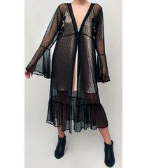 blusón embroidery malla negro lorenza bas