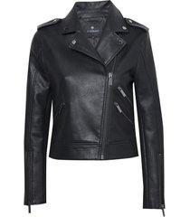 jaqueta le lis blanc debora new pu couro fake preto feminina (black, 50)