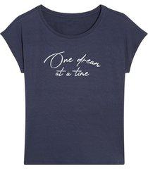 camiseta descanso mujer dream color azul, talla l