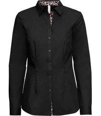 camicetta con inserto leopardato (nero) - bodyflirt boutique