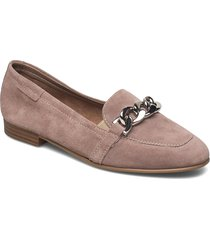 woms slip-on loafers låga skor lila tamaris