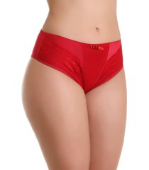 calcinha imi lingerie cã³s alto cintura alta em microfibra e renda vanusa vermelha - vermelho - feminino - dafiti