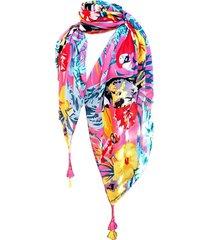 pañuelo algodón papagayos amarillo viva felicia