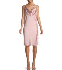 halston heritage women's satin slip dress - bloom - size 14