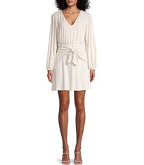 susana monaco women's knotted-front dress - blanched - size xs