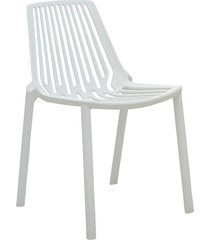 conjunto 02 cadeiras morgana branca rivatti