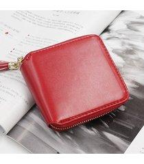 billetera mujeres- monedero pequeño cuadrado simple-