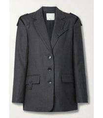 everett pinstripe detachable blazer