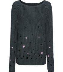 maglione con cuoricini (grigio) - rainbow