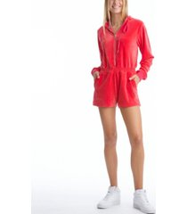 women's romper with hoodie