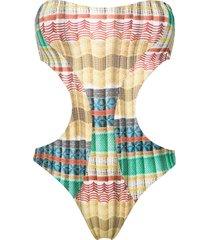lygia & nanny taylor bandeau swimsuit - multicolour