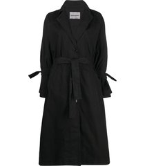 henrik vibskov flame trench coat - black