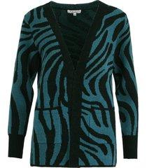 vest zebra blauw