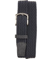 men's cuater by travismathew cheers woven belt, size large - dark blue/ dark grey