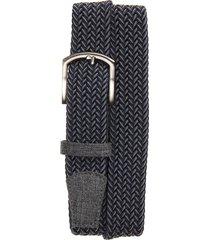 men's cuater by travismathew cheers woven belt, size medium - dark blue/ dark grey