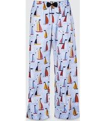 spodnie bawełniane do spania piżama żaglówki