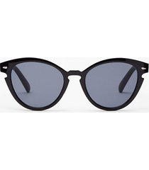 womens see you later rounded sunglasses - black