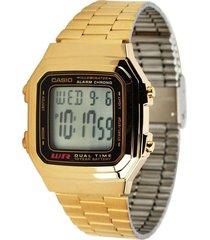 reloj casio a_178wga_1a dorado acero inoxidable
