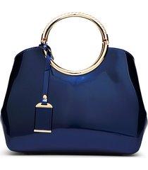 borsa a tracolla della borsa rossa elegante in pelle pu brillante donna