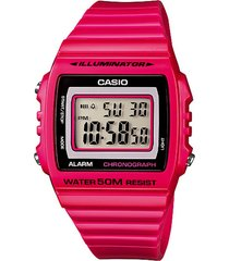 reloj casio digital w-215h-4a rosado