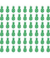 adesivo de parede decohouse abacaxi verde - verde - dafiti
