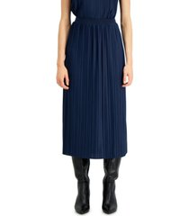 alfani pleated a-line midi skirt, created for macy's