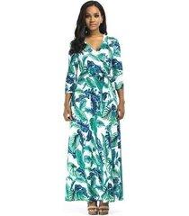 vestido largo de playa para mujer vestidos negros elegantes vestido ajustado de mujer con cuello en v vestido de mujer con estampado floral verde