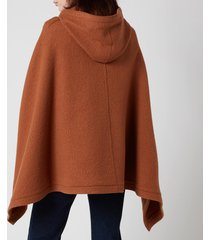 see by chloe women's hooded cape jacket - pottery brown - m