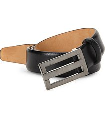 plaque leather belt