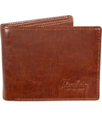 florsheim two-tone leather passcase wallet