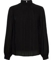 frmastri 2 blouse blouse lange mouwen zwart fransa