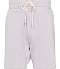 les tien yacht cotton track shorts - purple